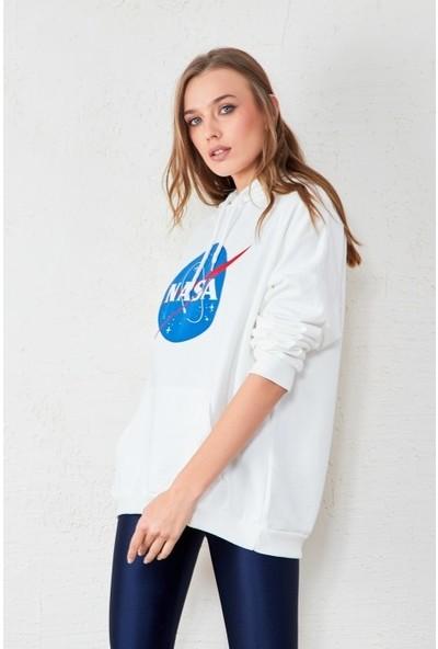 Freestar Nasa Baskılı Sweatshirt