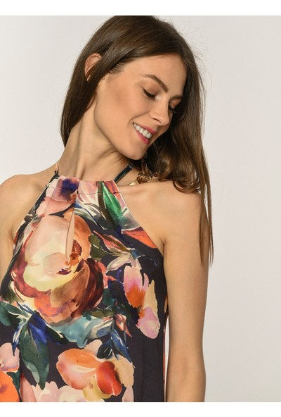New Laviva Desenli Kadın Elbise