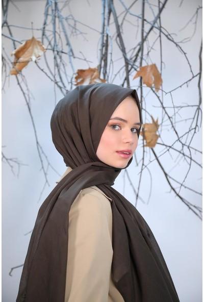 Felice Butik 11101 Pamuk Vual Kahverengirengi Kadın Şal