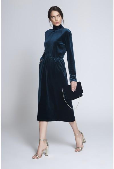 C-Ya Green Elbise - Çanta Set