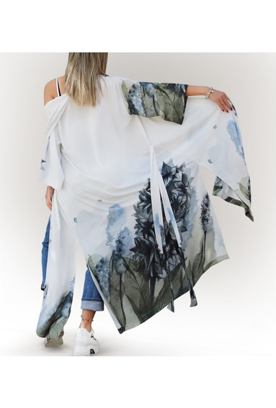 Yeşimlivaoğlu Lüx Sümbül Kimono Kaftan