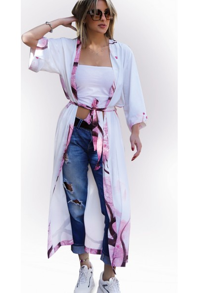 Yeşimlivaoğlu Lüx Sakura Kimono Kaftan