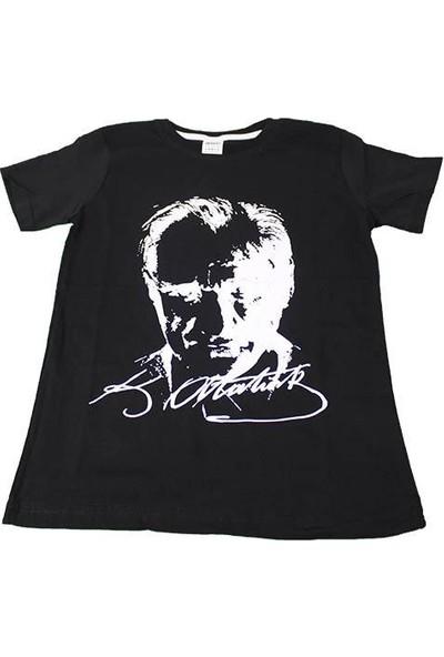 Asalya Bebe Pamuklu Atatürk Baskılı Tshirt 7-8 Yaş