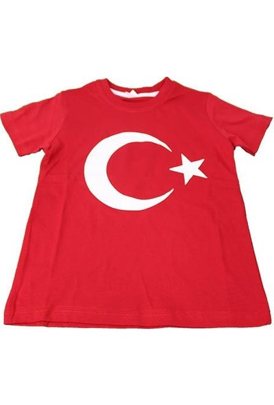 Asalya Bebe Pamuklu Bayrak Baskılı Tshirt 6-7 Yaş