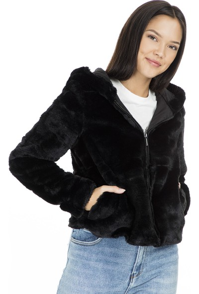 Only Mont Onlchris Fur Hooded 15156560-BLK