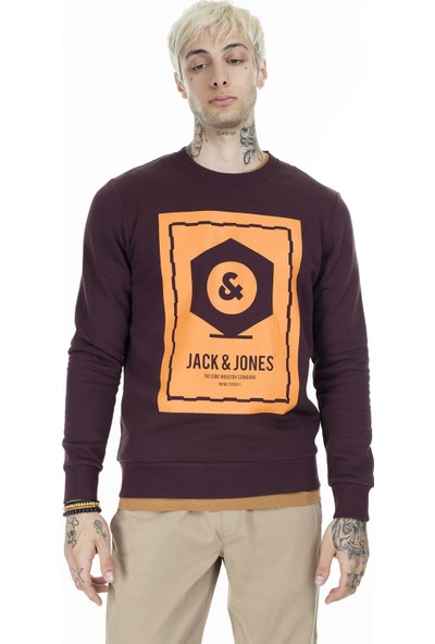 Jack & Jones Core Jcoknown Baskılı Sweat Erkek Sweat 12156248