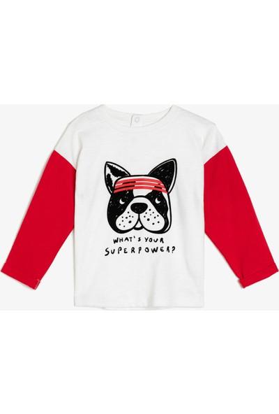 Koton Erkek Bebek Yazılı Baskılı Sweatshirt
