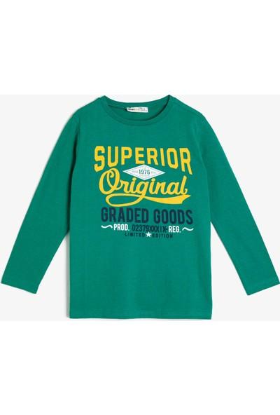 Koton Erkek Çocuk Yazılı Baskılı T-Shirt