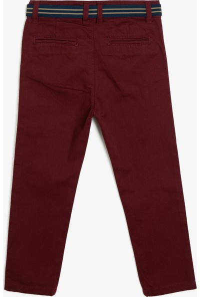 Koton Erkek Çocuk Kemer Detaylı Pantolon