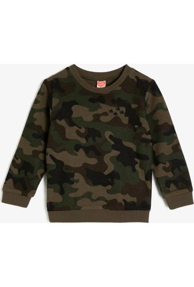 Koton Erkek Bebek Kamuflaj Desenli Sweatshirt