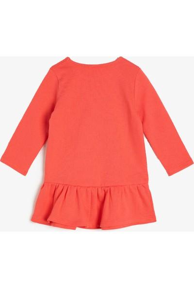 Koton Kız Bebek Baskılı Elbise
