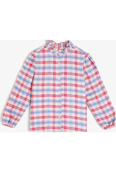 Koton Kız Çocuk Kareli Gömlek