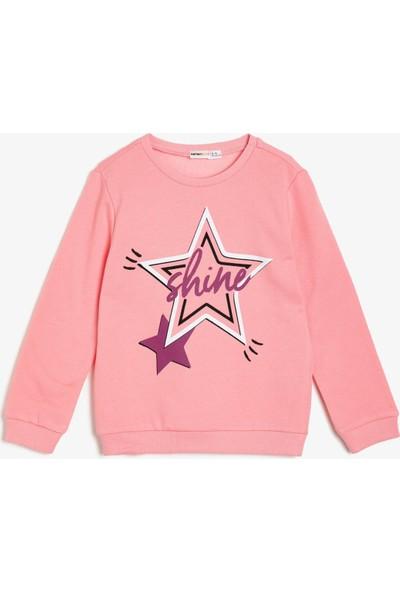 Koton Kız Çocuk Baskılı Sweatshirt