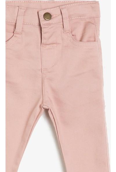 Koton Kız Bebek Cep Detaylı Pantolon