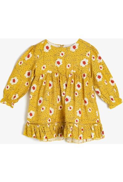 Koton Kız Bebek Çiçekli Elbise