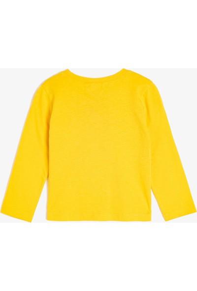 Koton Kız Bebek Yazılı Baskılı T-Shirt