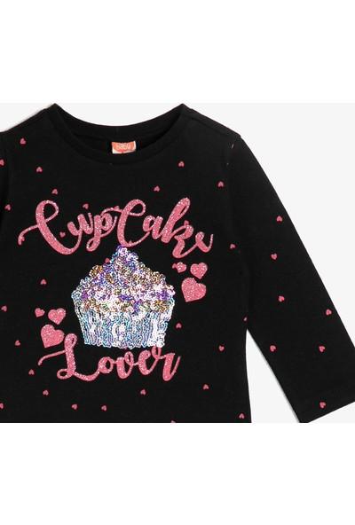 Koton Kız Bebek Pul Detaylı T-Shirt