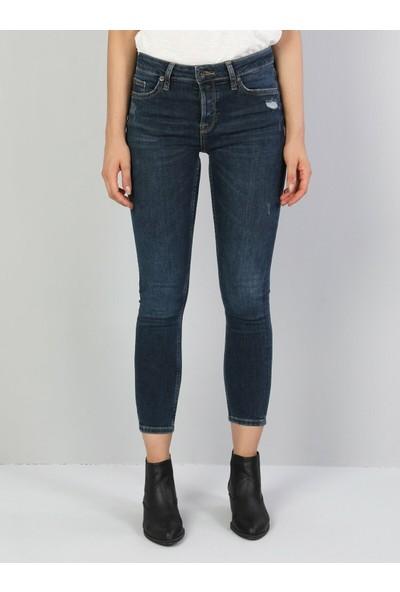 Colins 759 Lara Super Slim Fit Orta Bel Skinny Leg Kadın Koyu İndigo Jean Pantolon