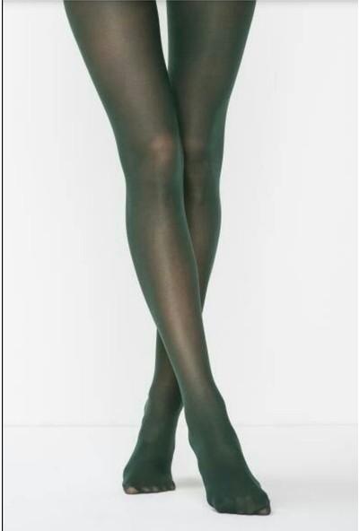 Müjde Lux 40 Denye Opak Koyu Yeşil 6'lı Külotlu Çorap