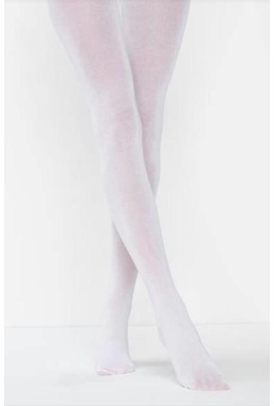 Müjde Lux 40 Denye Opak Beyaz 6'lı Külotlu Çorap