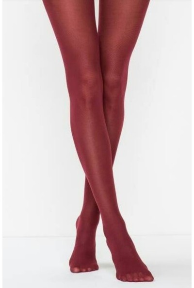 Müjde Lux 40 Denye Opak Bordo 6'lı Külotlu Çorap