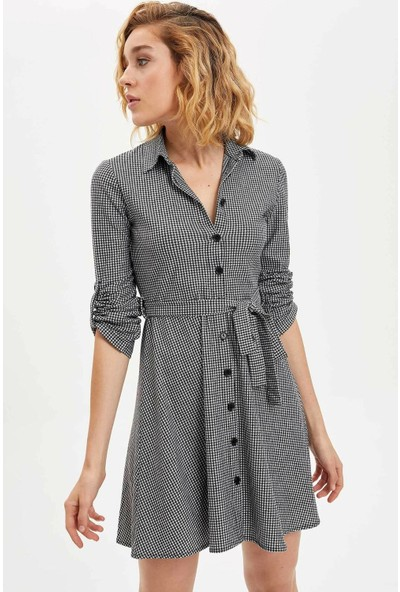 Defacto Beli Kuşaklı Elbise