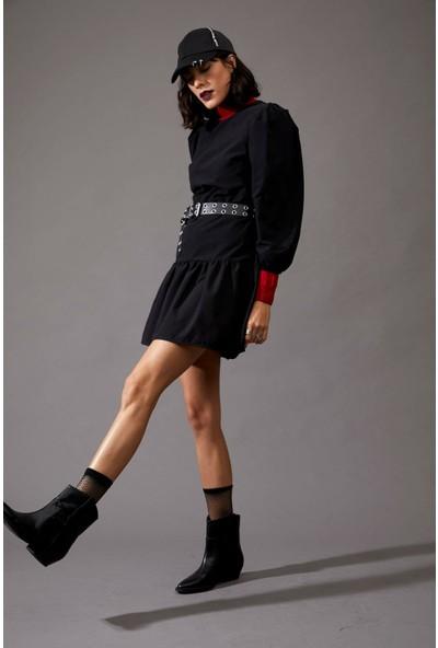 Defacto V Yaka Relax Fit Gömlek Elbise