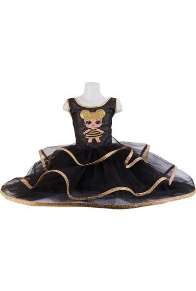 Janjan KostümLol Simli Siyah Gold Kostüm