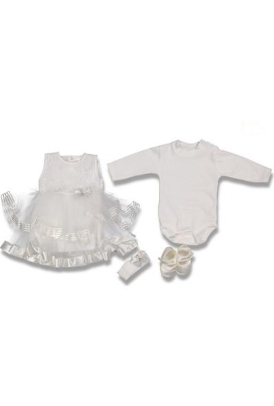 Fahroni Kız Bebek Tüllü Askılı Mevlüt Takım