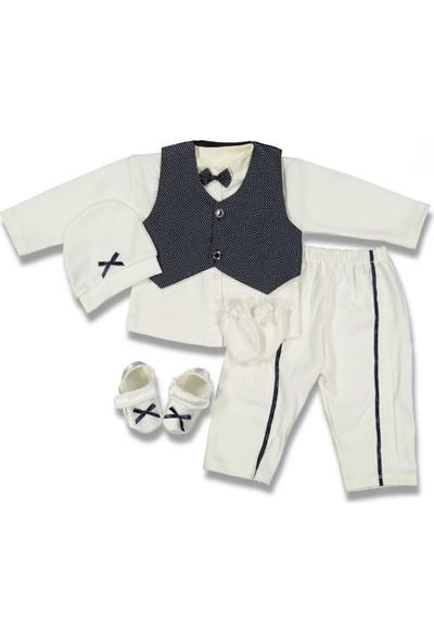 Enjoy Fahroni Erkek Bebek Baby Çizgili Yakasız Mevlüt Seti