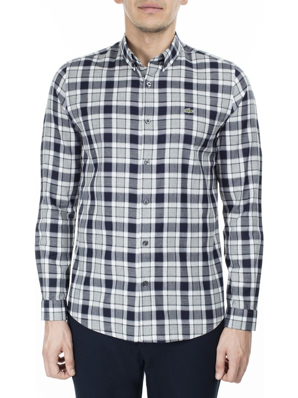 Lacoste Slim Fit Ekose Desenli Erkek Gömlek CH2021 21G