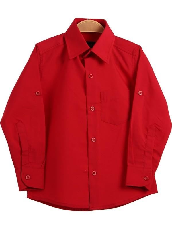 Eh Erkek Çocuk Kırmızı Gömlek 4-10 Yaş