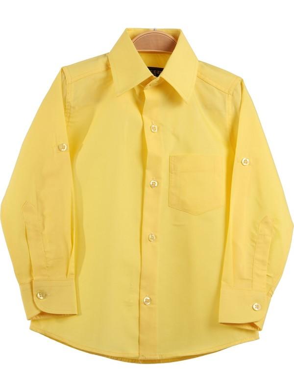 Eh Erkek Çocuk Gömlek Sarı 4-10 Yaş