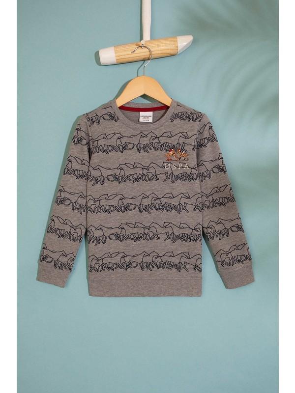 U.S. Polo Assn. Erkek Çocuk Sweatshirt 50207379-Vr086