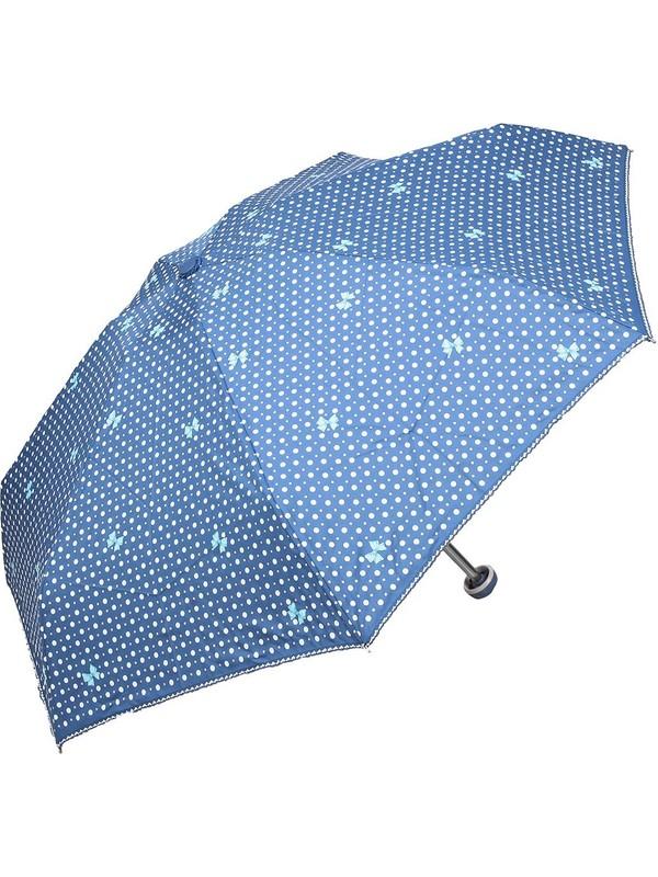 April Kız Çocuk Şemsiyesi Papiyonlu Mavi 212L