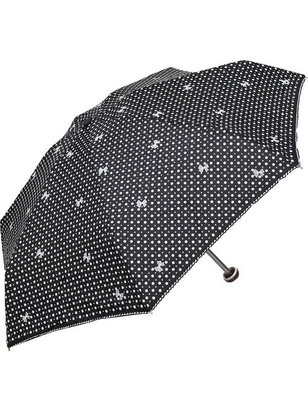 April Kız Çocuk Şemsiyesi Papiyonlu Siyah 212L