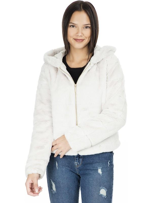 Only 15156560 Kadın Onlchris Fur Hooded Jacket Cc Otw Mont Pumice Stone