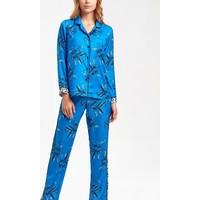 Suwen Bianca Maskülen Pijama Takımı - Lacivert Baskılı