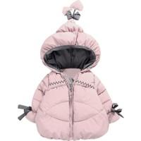 GOB2C Kışlık Kız Bebek Uzun Kollu Kaz Tüyü Ceket