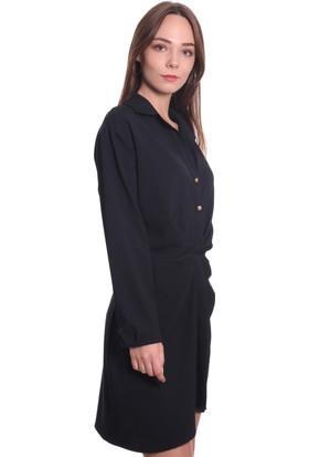 Ayhan Kadın Elbise 61119 Siyah