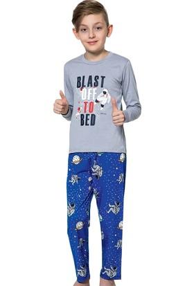 Elit Erkek Çocuk Interlok Kalın Kumaş Eşofman Pijama Takımı K4256