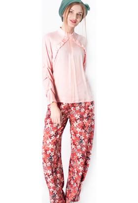 Miscats Kadın Desenli Pantolon Tarçın
