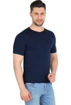 Darking 3006 V Yaka Erkek Kısa Kol T-Shirt Lacivert