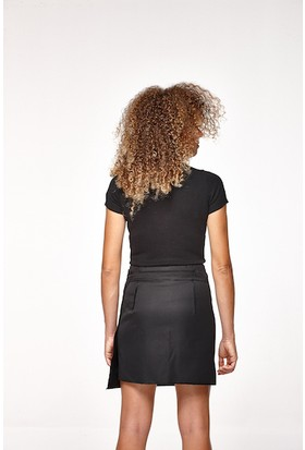 Tiera Styling Siyah Cepli Anvelop Etek