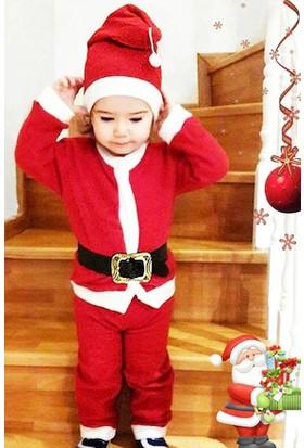 Noel Baba Kostüm, Yılbaşı Kostüm Yeni Yıl Bebek Çocuk Giyim. 0-6yaş