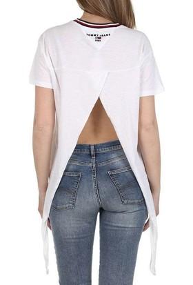 Tommy Hilfiger Kadın T-Shirt Dw0Dw06396-100