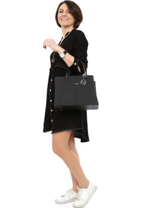 Tasarım Atölyesi Kadın Siyah Dokuma Elbise