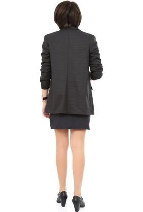 Tasarım Atölyesi Kadın Kareli Ceket