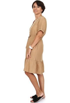 Tasarım Atölyesi Kadın Keten Elbise