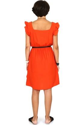 Tasarım Atölyesi Kadın Fır Fırlı Keten Elbise